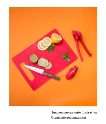 Espremedor de Limão - Vermelho - Oikos