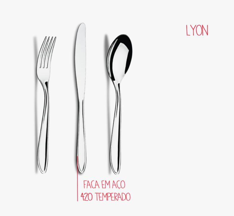 Faqueiro em Inox - 42 peças - Lyon - Brinox
