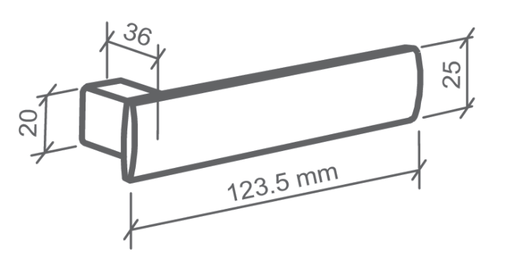 Fechadura Banheiro Metro Light - 55mm - Imab