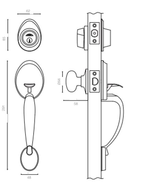 Fechadura Externa Blim Blim - 650 - Arouca