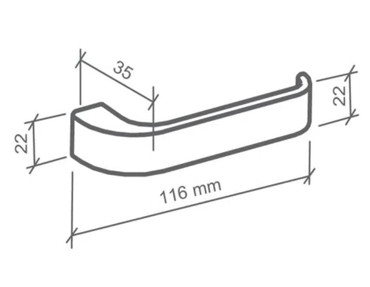 Fechadura Externa Odin  - 40mm - Imab