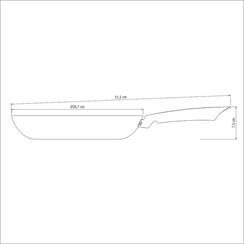 Frigideira de Ferro com Revestimento Antiaderente Trento 30cm/3L Preto - Tramontina