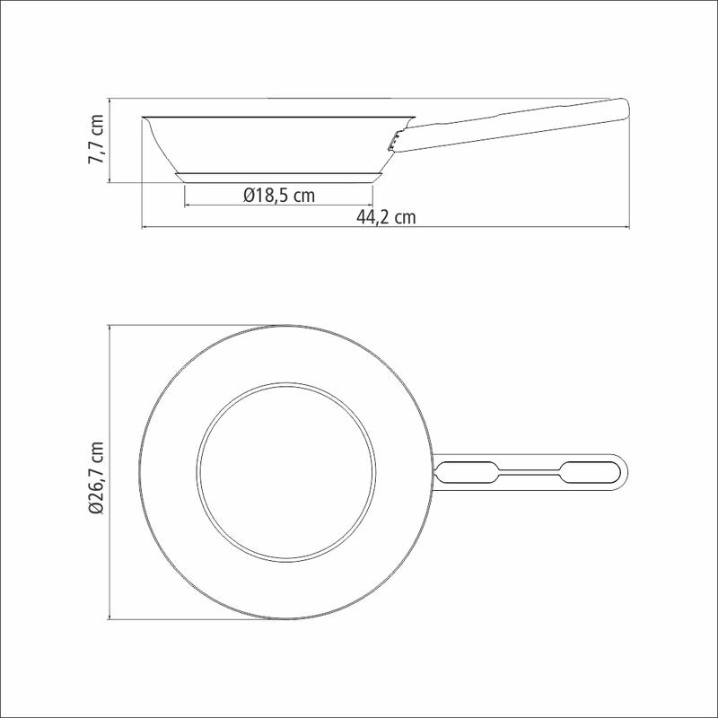 Frigideira em Aço Inox com Fundo triplo - 20cm - 1,30L - Allegra - Tramontina