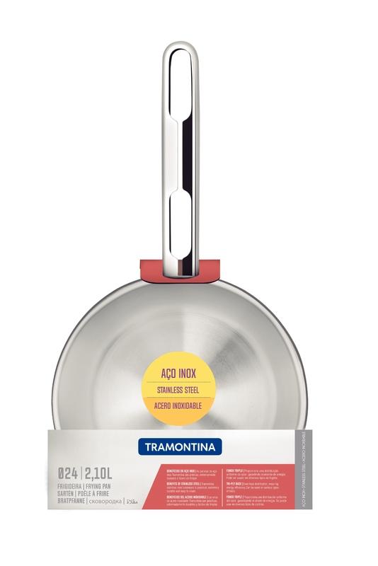 Frigideira em Aço Inox com Fundo triplo - 24cm - 2,1L - Allegra - Tramontina