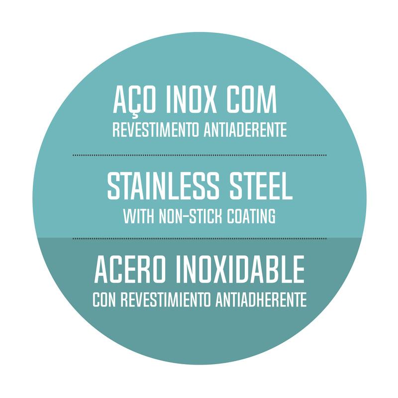Frigideira em Aço Inox com Fundo triplo e Revestimento Interno Antiaderente - 20cm - 1,3L - Ventura - Tramontina