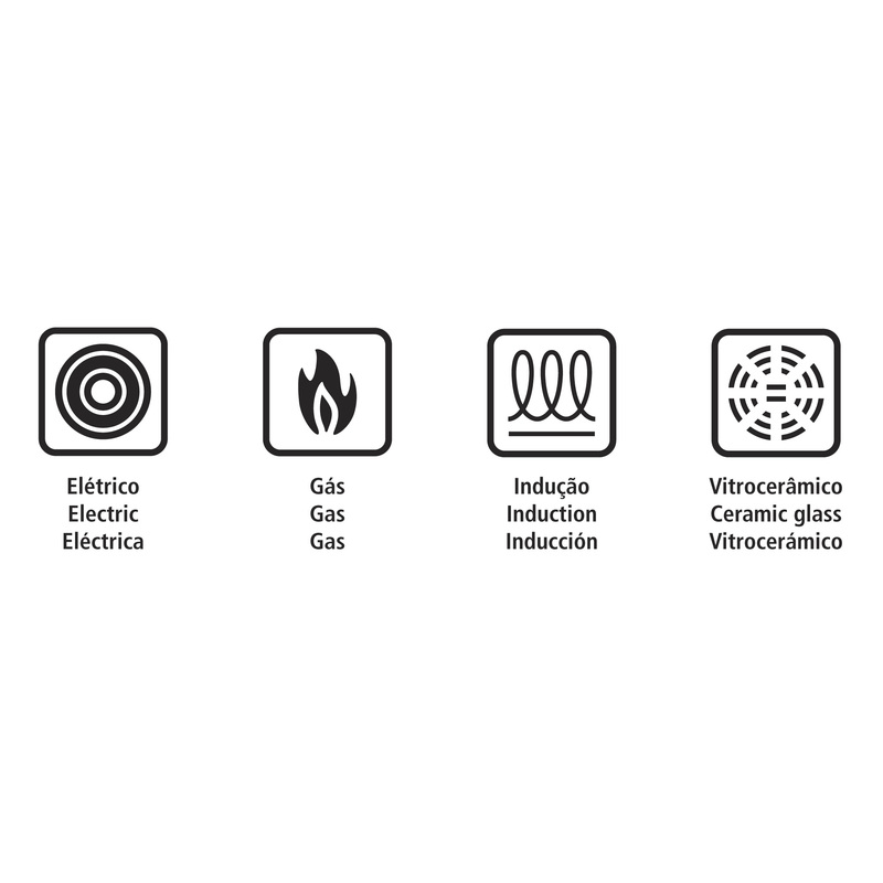 Frigideira em Aço Inox com Fundo triplo e Revestimento Interno Antiaderente  - 24cm - 2,1L - Ventura - Tramontina