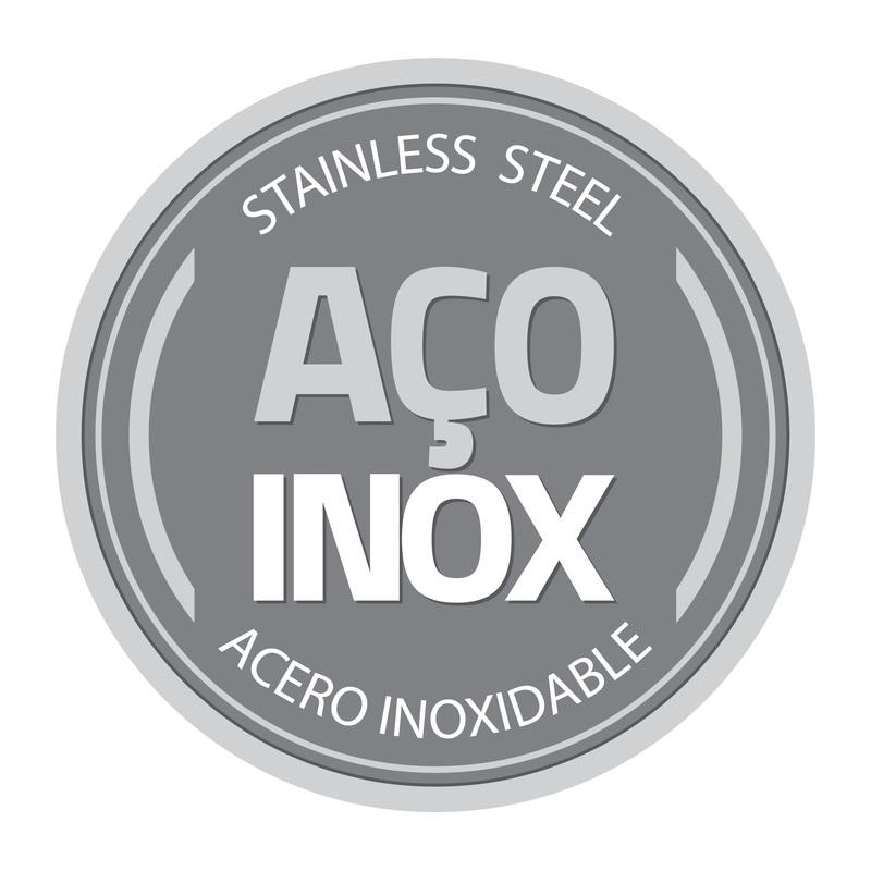 Frigideira em Aço Inox com Revestimento Interno Antiaderente e Cabo de Baquelite - 2,1L - Brava - Tramontina