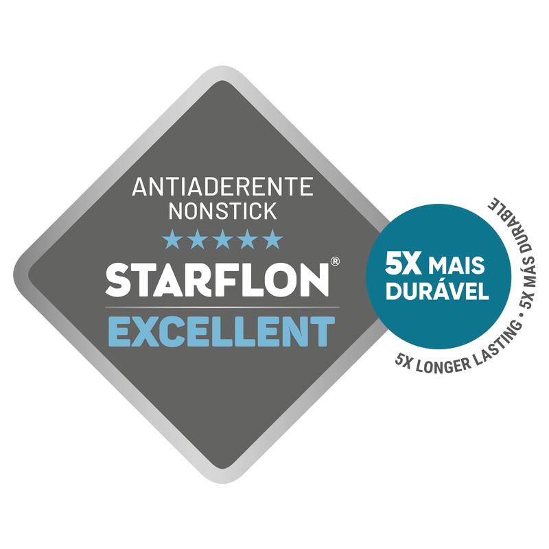 Jogo de Frigideiras em Alumínio com Revestimento Interno e Externo Antiaderente Starflon - 2 peças - Vermelho - Sicília - Tramontina