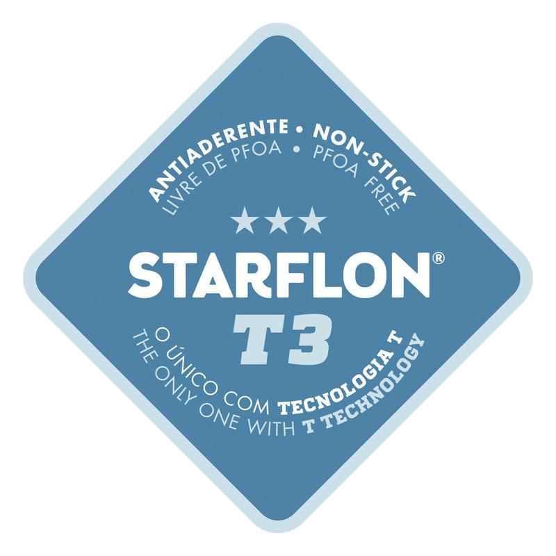 Frigideira em Alumínio com Acabamento Lixado e Revestimento Interno Antiaderente Starflon T3 - 26cm - 2L - Profissional - Tramontina