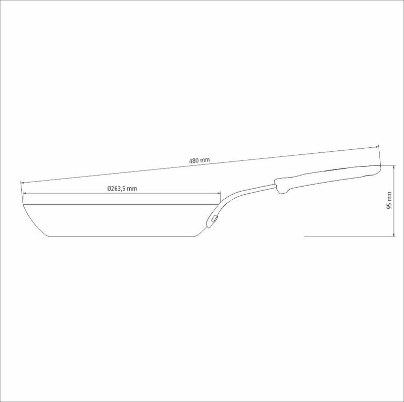 Frigideira Profissional em Ferro 26cm/1,7L Preto - Tramontina