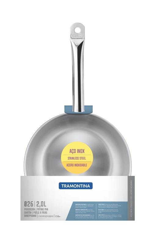 Frigideira Profissional Rasa em Aço Inox com Fundo Triplo - 26cm - 2L - Tramontina