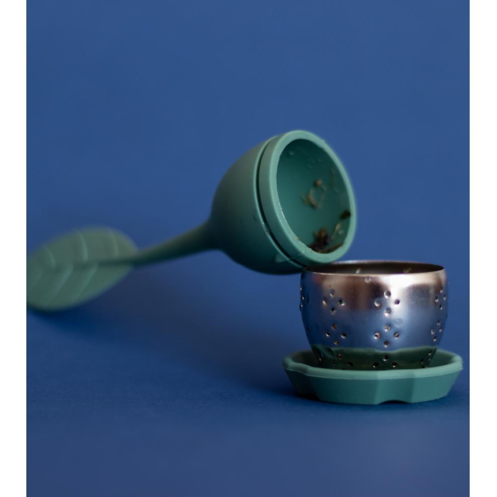 Infusor de Chá de Silicone - Verde Escuro - Oikos