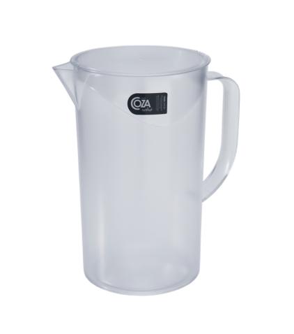 Jarra com tampa Casual  - 2 Litros - Cristal - Coza