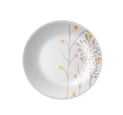 Jogo de Jantar Clean & Garden - 16 Peças com Pratos Decorados - Yoi