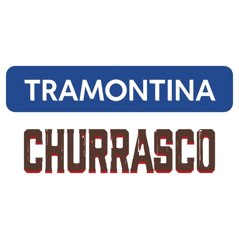 Jogo para Churrasco Jumbo em Aço Inox e Cabo Pollywood Castanho12 Peças - Tramontina