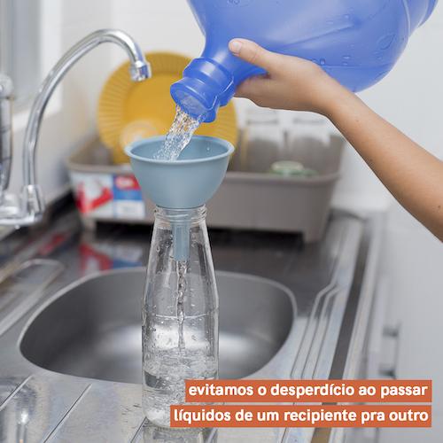 Kit de 3 Funis de Silicone - Azul - Oikos