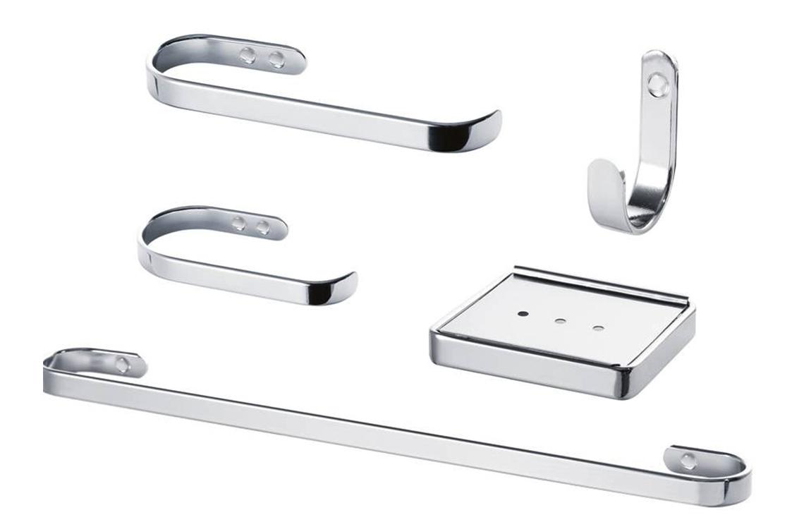 Kit de Acessórios para Banheiro - 5 peças - 3704 CR Plus - Kelly metais