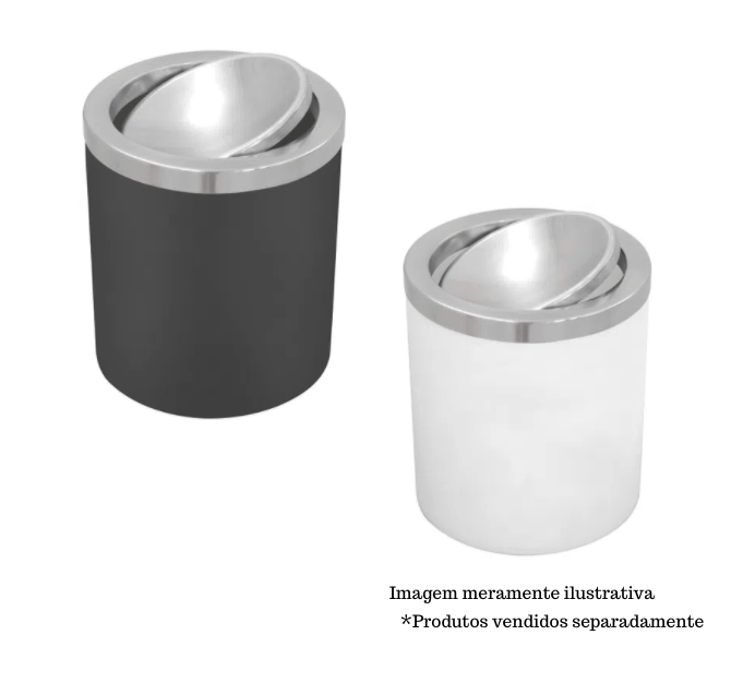 Lixeira com basculante  5L - Útil -  Tramontina
