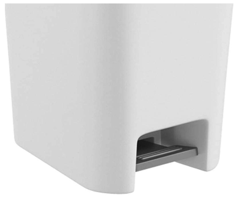 Lixeira com Pedal Double - 15L - Branco - Coza