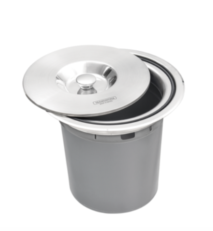 Lixeira de Embutir Clean Round em Aço Inox - 5L - Tramontina