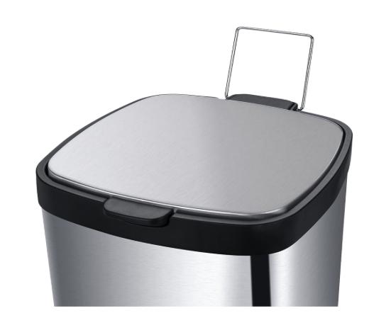Lixeira em Aço carbono com Pedal e balde - 12L - Inox - Frame