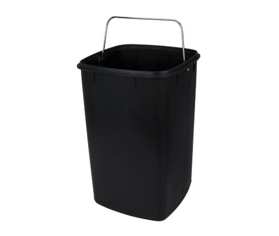 Lixeira em Aço carbono com Pedal e balde - 6L - Inox - Frame