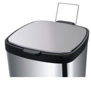Lixeira em Aço carbono com pedal e balde - Inox- Frame - Brinox