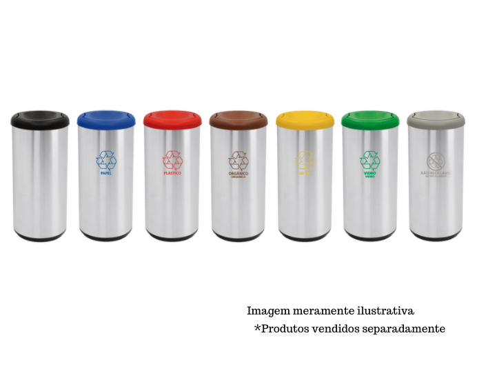 Lixeira Inox 40L - Cápsula Selecta Plus Basculante - Tramontina