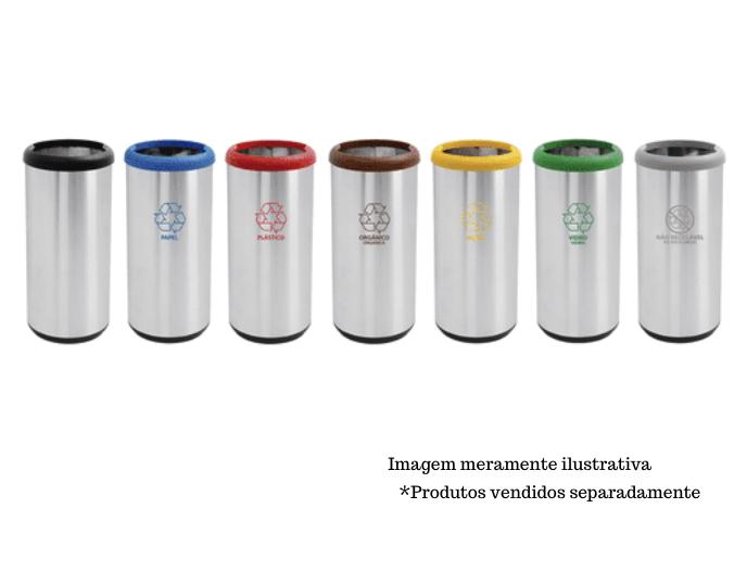 Lixeira Inox 40L - Cápsula Selecta Plus - Tramontina