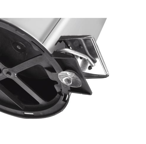 Lixeira Inox com pedal - Acabamento polido e balde interno - 12L - Tramontina