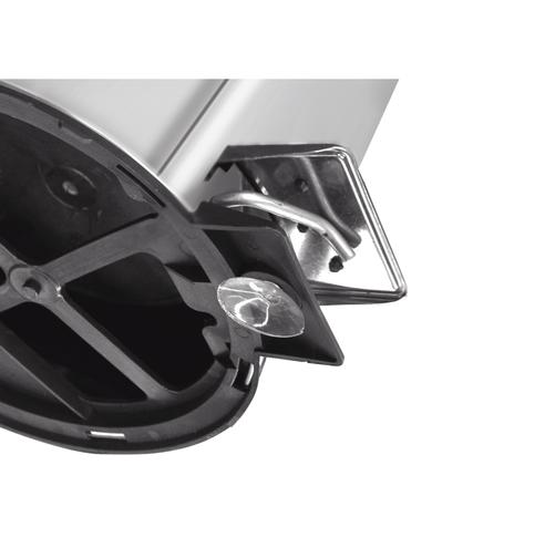 Lixeira Inox com pedal - Acabamento polido e balde interno - 20L - Tramontina