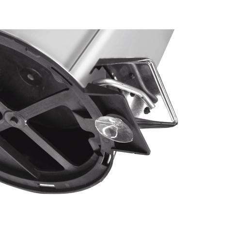 Lixeira Inox com pedal - Acabamento polido e balde interno - 3L - Tramontina