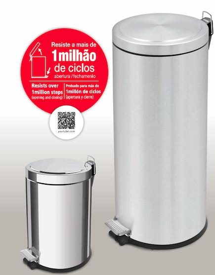 Lixeira Inox com pedal - Brasil - Tramontina