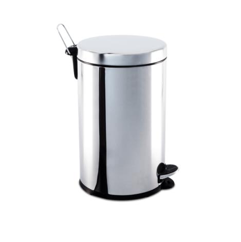 Lixeira Inox com Pedal e balde - 12L - Decorline - Brinox