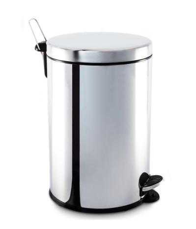 Lixeira Inox com Pedal e balde - 20L - Decorline - Brinox