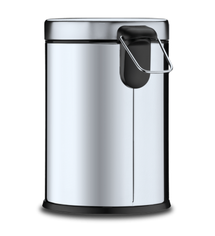Lixeira Inox com Pedal e balde - 5L - Decorline - Brinox