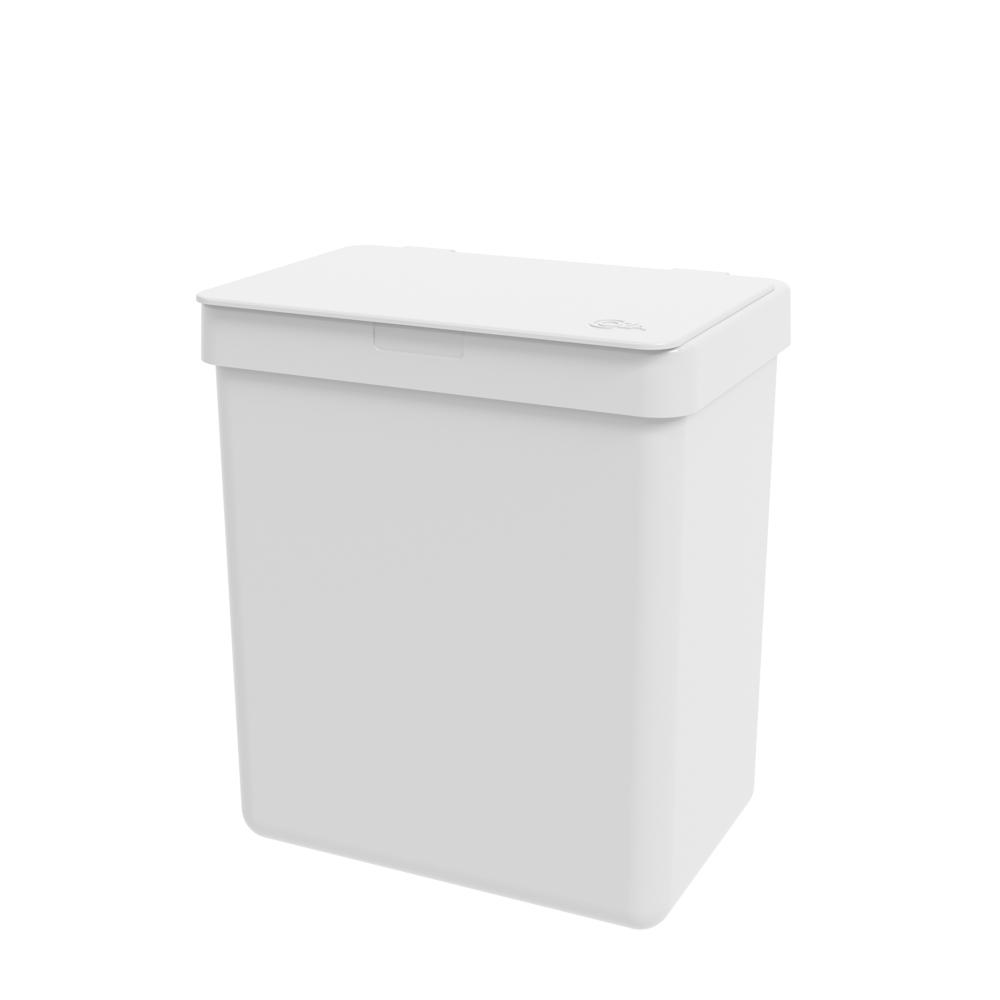 Lixeira Single 2,5L Branco - Coza