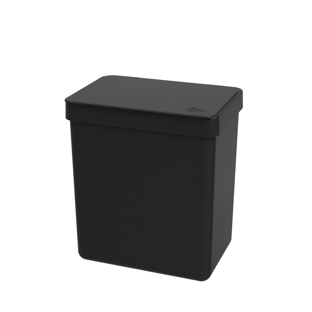 Lixeira Single 2,5L Preto - Coza