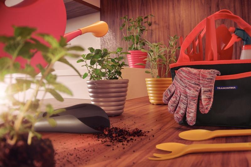 Luva para Jardinagem de Algodão Colorida - Tramontina