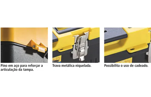 """Caixa Plástica para Ferramentas 20"""" com Bandeja removível - Tramontina"""