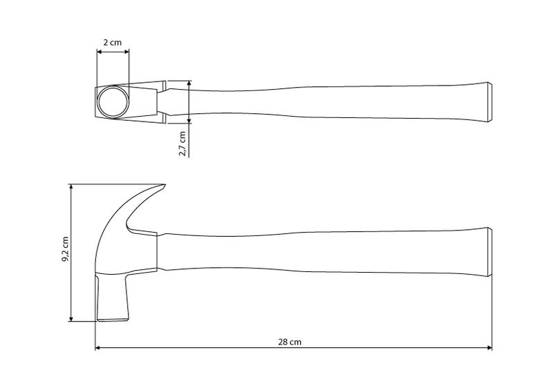 Martelo de Unha Cabeça em Aço Especial com Cabo em Madeira Envernizada 20 mm - Tramontina