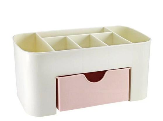 Organizador de Mesa Multifuncional com 1 Gaveta Rosa - Lifestyle - Jacki Design