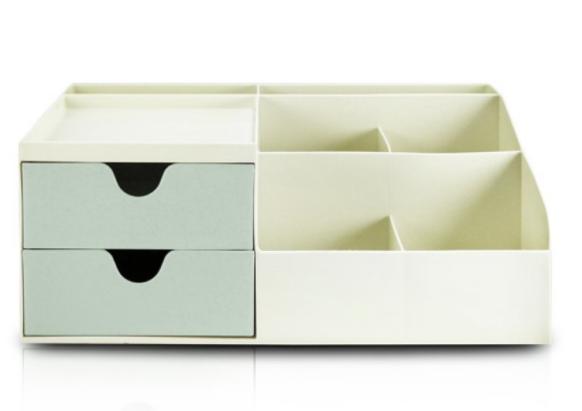 Organizador de Mesa Multifuncional com 2 Gavetas Verde - Lifestyle - Jacki Design