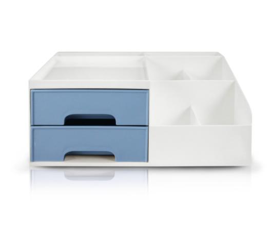 Organizador Multiuso de 2 gavetas Azul - Jacki Design