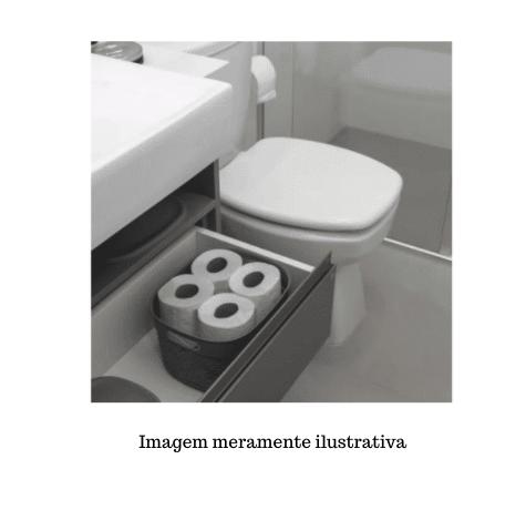 Organizador Plástico c/ tampa Cinza concreto - 17L - Astra