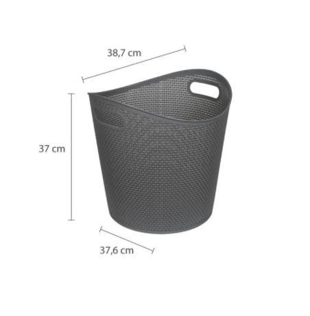 Organizador Plástico Cinza concreto - 35L - Astra
