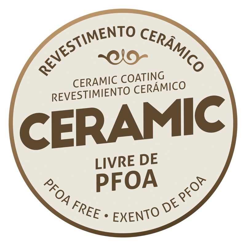 Panela de Pressão em Alumínio com Revestimento Interno e Externo Cerâmico - 20cm/4,5 L - Vermelho Framboesa  - Torino - Tramontina