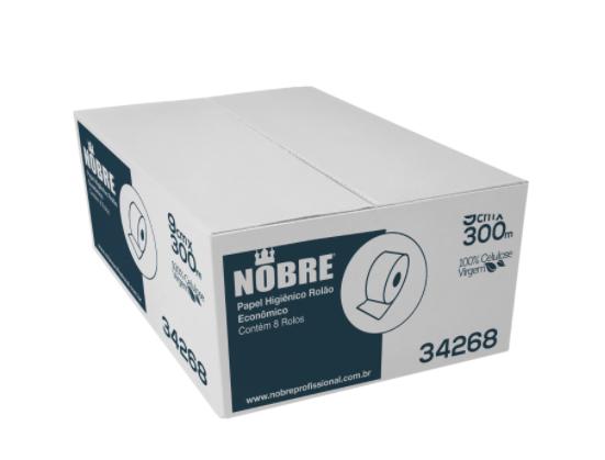 Papel Higiênico Rolão - 300m - Nobre