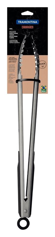Pegador de Carne em Aço Inox e Proteção Emborrachado - Churrasco Black - Tramontina