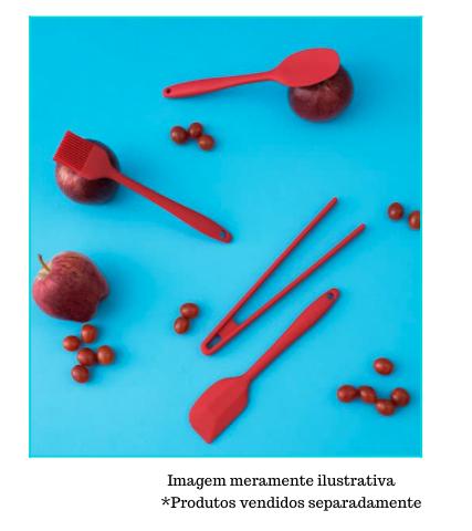 Pincel de Silicone Pequeno - Vermelho - Oikos